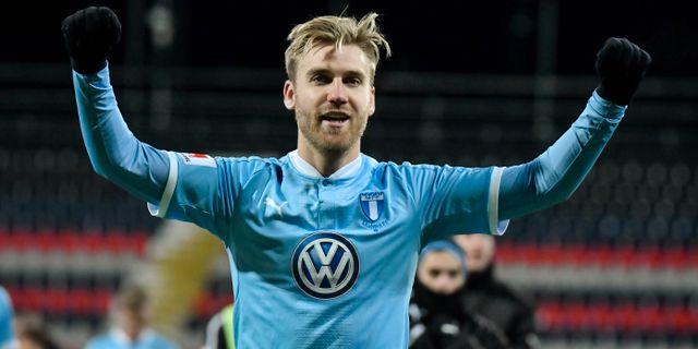 Malmös Rasmus Bengtsson efter segern mot Östersund. Robert Henriksson/TT / TT NYHETSBYRÅN