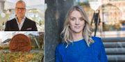 Uppe till vänster: Joakim Bornold, sparekonom Söderberg & Partners. Stora bilden: Maria Landeborn, sparekonom och senior strateg vid Danske Bank. TT
