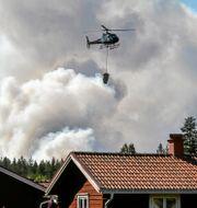 Skogsbrand i Ljusdals kommun. Tomas Oneborg/SvD/TT / TT NYHETSBYRÅN