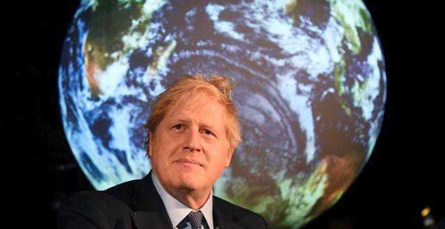 Britterna med Boris Johnson i spetsen står som värdar för FN:s klimatmöte i år. Jeremy Selwyn / TT NYHETSBYRÅN