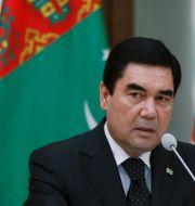 Turkmenistans president Gurbanguly Berdymuchamedov. DAVID MDZINARISHVILI / TT NYHETSBYRÅN