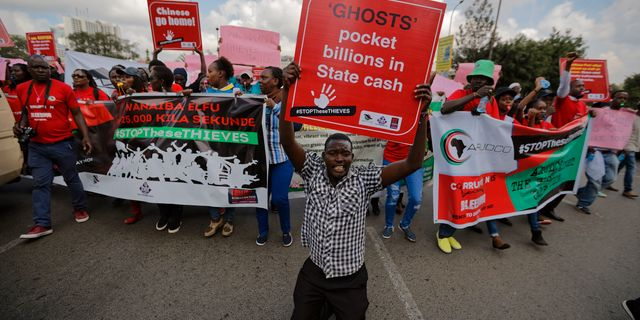 Demonstrationerna i Kenya. Ben Curtis / TT / NTB Scanpix