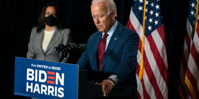 Joe Biden och Kamala Harris Carolyn Kaster / TT NYHETSBYRÅN