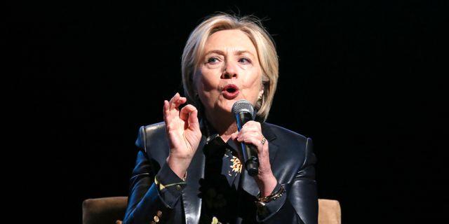 Hillary Clinton. Reed Saxon / TT / NTB Scanpix