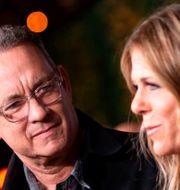 Rita Wilson och Tom Hanks. VALERIE MACON / TT NYHETSBYRÅN