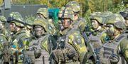 Arkivbild: Soldater med kamouflagemålning under en försvarsövning Jonas Ekströmer/TT / TT NYHETSBYRÅN