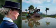 Sara Algotsson Ostholt. Till höger på en tävling med en annan häst. TT