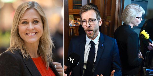 Christina Söderberg. Jacob Forssmed (KD) och Elisabet Svantesson (M).