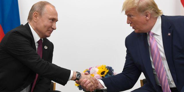 Putin och Trump. Susan Walsh / TT NYHETSBYRÅN