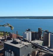 Cementas fabrik i Slite på Gotland. Pressfoto: Cementa