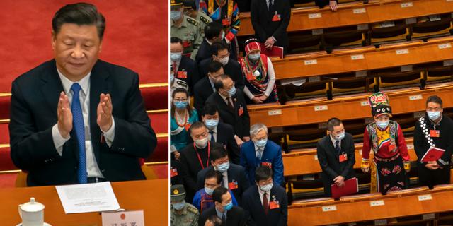 Omröstningen i Kinas folkkongress. TT