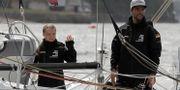 Greta Thunberg och kaptenen Boris Herrmann Kirsty Wigglesworth / TT NYHETSBYRÅN