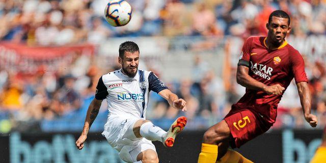 Bild från matchen. Riccardo Antimiani / TT NYHETSBYRÅN/ NTB Scanpix