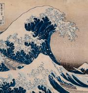 """Pressbild från British Museum på Hokusais """"Under vågen utanför Kanagawa"""".  British Museum"""