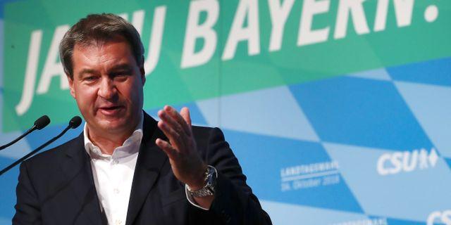 Bayerns regeringschef Markus Söder (CSU).  MICHAEL DALDER / TT NYHETSBYRÅN