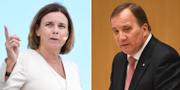 MP:s språkrör Isabella Lövin och statsminister Stefan Löfven (S) TT