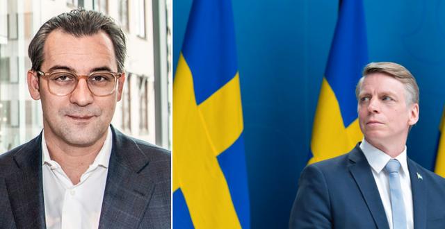 Sasja Beslik och Per Bolund.