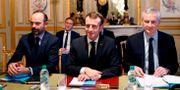 Macron under gårdagen. THIBAULT CAMUS / POOL