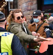 Demonstranter i Stockholm. TT