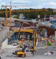 Infarten till Förbifart Stockholm vid Kungens kurva utanför Stockholm. Fredrik Persson / TT / TT NYHETSBYRÅN