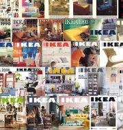 Ikeakatalogerna genom åren. IKEA / TT NYHETSBYRÅN