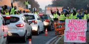 Bild från protesterna. REGIS DUVIGNAU / TT NYHETSBYRÅN