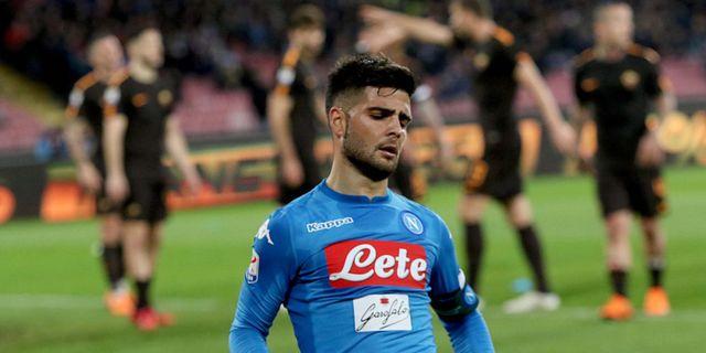 Napolis Lorenzo Insigne ser besviken ut. Cesare Abbate / TT NYHETSBYRÅN