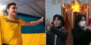 Duplantis/Selfies framför den olympiska elden TT