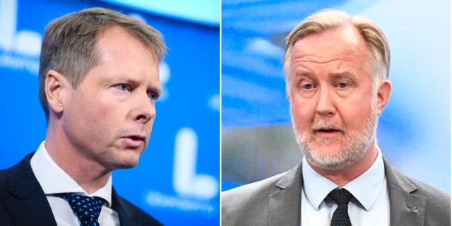 Christer Nylander och Johan Pehrson. Arkivbilder. TT