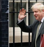 Arkivbilder: Joe Biden (under sin tid som vicepresident) och Boris Johnson utanför 10 Downing Street.  TT