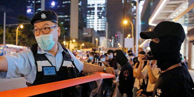 Protest i Hongkong. Arkivbild. Kin Cheung / TT NYHETSBYRÅN