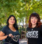 Sabrina Mercadante och Tiffany Reardon är två av de som överlevde massakern. Steve Marcus / TT NYHETSBYRÅN