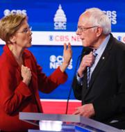 Donald Trump, Joe Biden, Elizabeth Warren och Bernie Sanders. TT