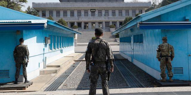 Gränsstaden Panmunjom där samtalen hölls. Lee Jin-man / TT NYHETSBYRÅN