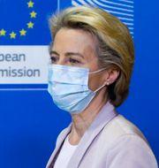 EU-kommissionens president Ursula von der Leyen.  Aris Oikonomou / TT NYHETSBYRÅN