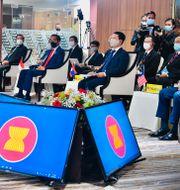 Asean-ländernas ledare under mötet. Laily Rachev / TT NYHETSBYRÅN