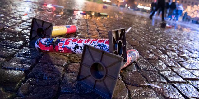 Moske attackerades med flask