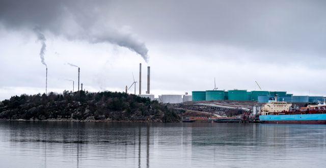Preems raffinaderi i Lysekil. Björn Larsson Rosvall/TT / TT NYHETSBYRÅN