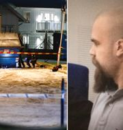Polisen på plats efter att en sprängladdning detonerat i Västra Frölunda / Viktor Melin, en av de dömda nazisterna. TT