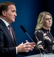 Statsminister Stefan Löfven och Socialminister Lena Hallengren.  Christine Olsson / TT NYHETSBYRÅN