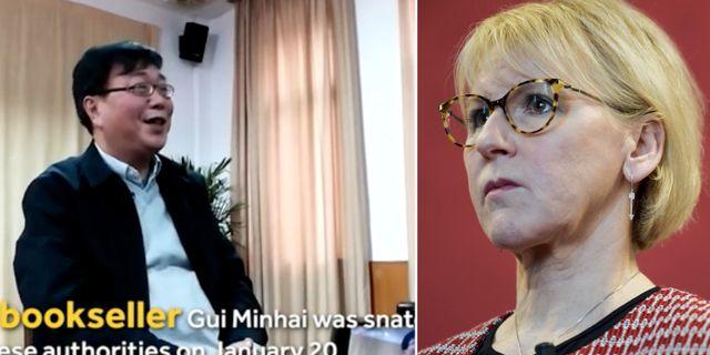 Förläggaren Gui Minhai och Margot Wallström  TT