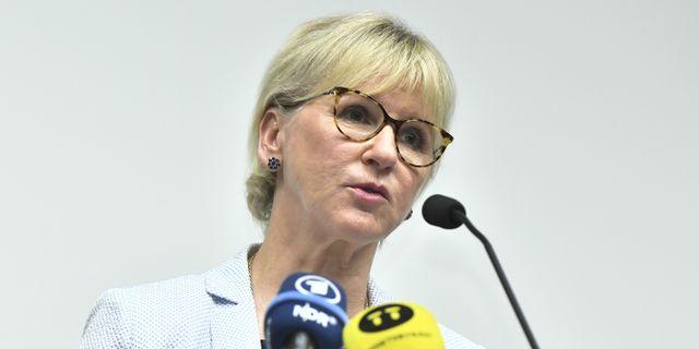 Utrikesminister Margot Wallström. Claudio Bresciani/TT / TT NYHETSBYRÅN