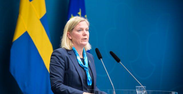 Arkivbild: Finansminister Magdalena Andersson (S). Amir Nabizadeh/TT / TT NYHETSBYRÅN
