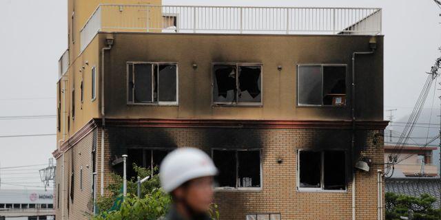 Den utbrända bygganden i Kyoto i Japan. Jae C. Hong / TT NYHETSBYRÅN/ NTB Scanpix
