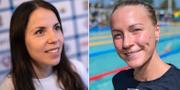 Charlotte Kalla och Sarah Sjöström. Arkivbilder. TT