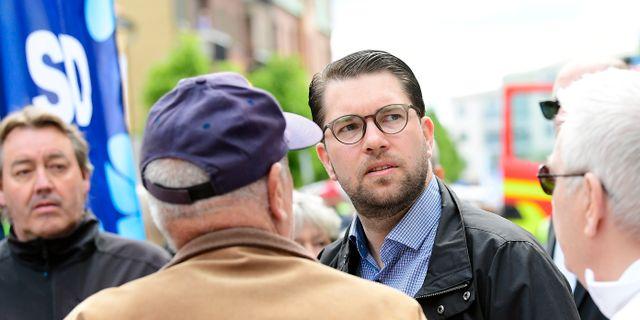Jimmie Åkesson, partiledare för SD. Mikael Fritzon/TT / TT NYHETSBYRÅN