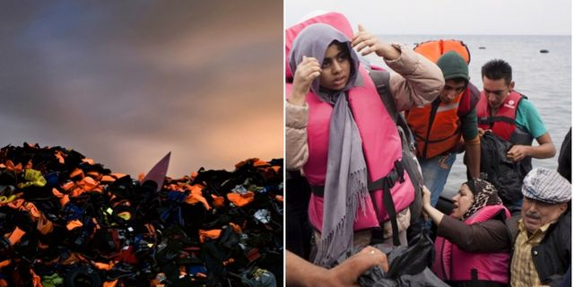 Annu kommer flyktingar till grekland
