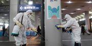 Suseo-stationen i Seul i Sydkorea saneras. Ahn Young-joon / TT NYHETSBYRÅN