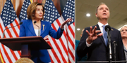 Nancy Pelosi och Adam Schiff. TT