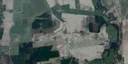 Satellitbild från området där skalvet bröt ut. Google Maps.